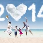 New year holiday at beach — Stock Photo