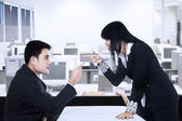 Business fight — Stock Photo