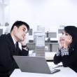 Business partner thinking in office — Stock Photo