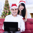 Young couple shopping online — Foto de Stock