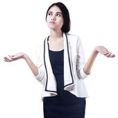 Confused Businesswoman — Stock Photo