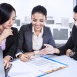Three Business Partners In Meeting — Stock Photo