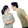 Young Couple Fighting Isolated — Stock Photo #37339993