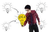Business bright idea — Stock Photo