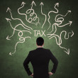 Businessman and tax problem — Stockfoto