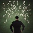 Businessman and tax problem — 图库照片
