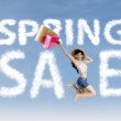 Spring sale concept — Stock Photo