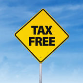Tax free road sign — Stock Photo