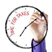 Hand Writing Time For Taxes — Stock Photo