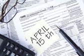 Tax Day Reminder — Stock Photo