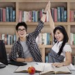 Happy student couple — Stock Photo