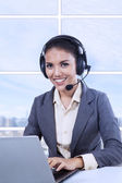 Female customer support — Stock Photo