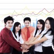 Business team showing unity — Stockfoto