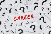 Career and question marks — Stock Photo
