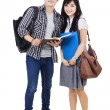Couple Students - Isolated — Stock Photo