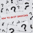 Stock Photo: How to quit smoking