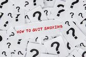 Como deixar de fumar — Fotografia Stock