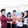 Business team overlapping hands — Stock Photo #41882053