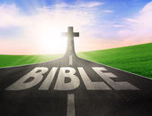 Road with the word Bible — Stock Photo