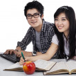 Stock Photo: AsiStudents Studying