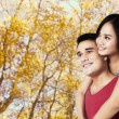 Stock Photo: Couple in the autumn park