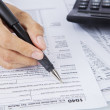 Filling out income tax forms — Stock Photo