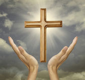 Faithful hand to the god — Stock Photo