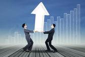 Trabalhando juntos para o aumento do lucro — Fotografia Stock