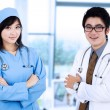 Doctor and a surgeon in pose — Stock Photo