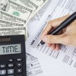 Tax time for paying tax 1 — Stock Photo