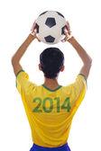 Brazilian player throwing the ball — Foto Stock
