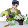 Female florist — Stock Photo