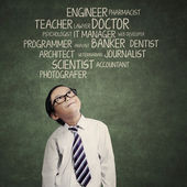 Kid thinking an aspiration — Stock Photo