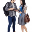 Students in conversation — Stock Photo #45007389