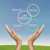 Life balance concept — 图库照片