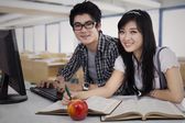 Asian Students Studying — Foto Stock