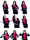Different Businesswoman Expressions — Stock Photo