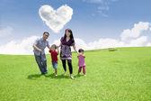 Fun time with family — Stock Photo