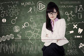 Female medical student at class 1 — Stock Photo