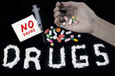 No drugs concept — Stock Photo