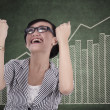 Businesswoman celebrating her achievement 1 — Stock Photo