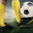 Feet player with a soccer ball 2 — Stock Photo #47296729