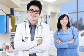 Confident young medical team — Stock Photo