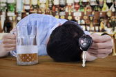 Drunk young man — Stock Photo