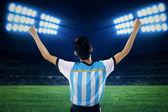 Argentinischer fußballspieler feiern gewinnen 1 — Stockfoto