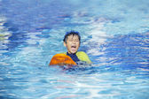 Cute boy playful on the pool 2 — Stock Photo