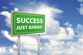 Roadsign of success — Stock Photo