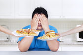 Stop to eat junk food — Stock Photo