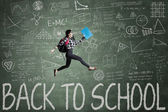 Enthousiasme student terug naar school — Stockfoto