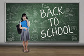 Attractive student back to school 3 — Stock Photo